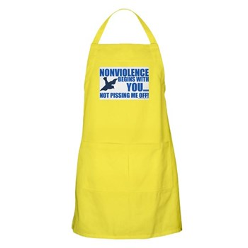 Nonviolence Begins with You... Apron