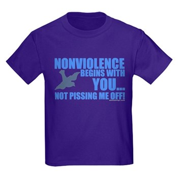 Nonviolence Begins with You... Kids Dark T-Shirt