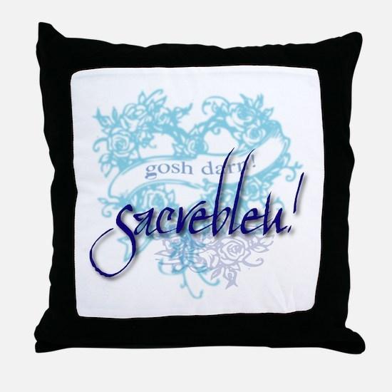 Sacrebleu! Throw Pillow