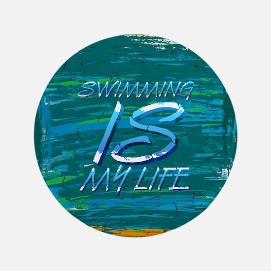 "Swim Life 3.5"" Button"