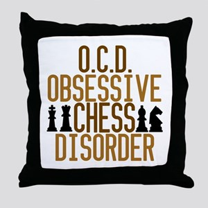 Funny Chess Addict Throw Pillow