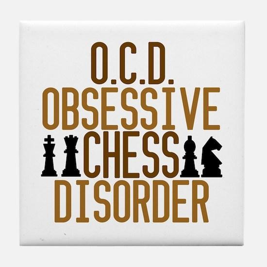 Funny Chess Addict Tile Coaster