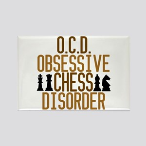 Funny Chess Addict Rectangle Magnet