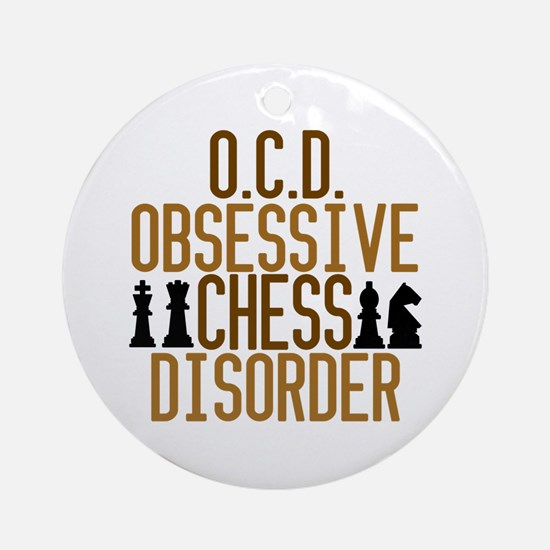 Funny Chess Addict Ornament (Round)