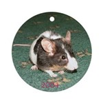 Mouse Ornament (Round)