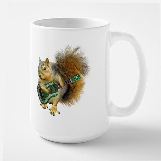 Squirrel Ukulele Large Mug