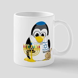Hanukkah Scarf Penguin Mug