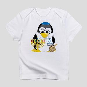 Hanukkah Scarf Penguin Infant T-Shirt