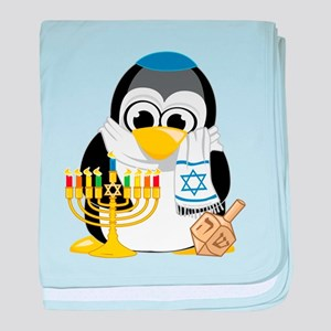 Hanukkah Scarf Penguin baby blanket
