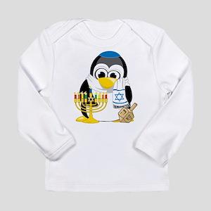 Hanukkah Scarf Penguin Long Sleeve Infant T-Shirt