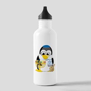 Hanukkah Scarf Penguin Stainless Water Bottle 1.0L