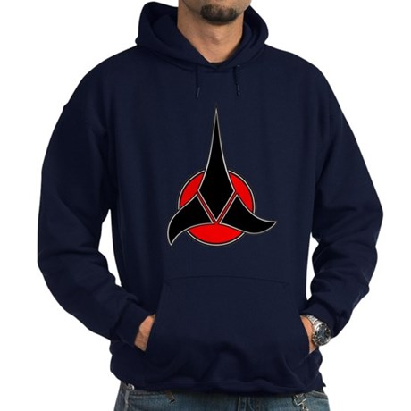 Klingon Symbol Hoodie (dark)