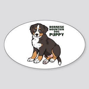 Sitting Bernese Mountain Dog Sticker (Oval)
