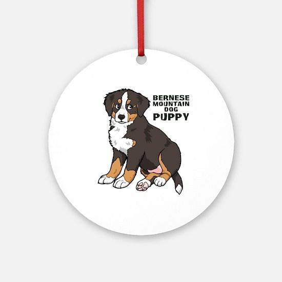 Sitting Bernese Mountain Dog Ornament (Round)
