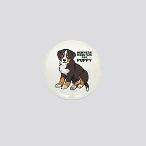 Sitting Bernese Mountain Dog Mini Button