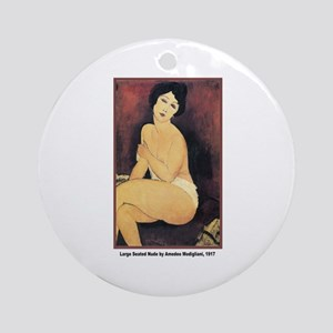 Modigliani Seated Nude Ornament (Round)