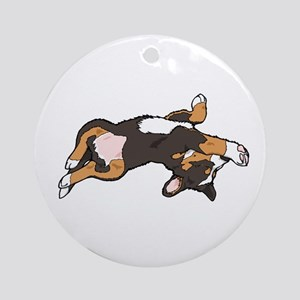 Sleeping Bernese Mountain Dog Ornament (Round)