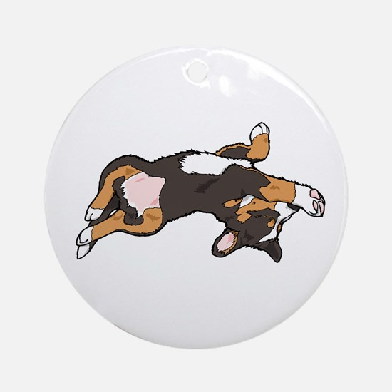 Sleeping Bernese Mountain Dog Ornament (Round)