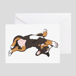 Sleeping Bernese Mountain Dog Greeting Card