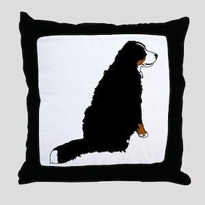 Sitting Bernese Mountain Dog Throw Pillow