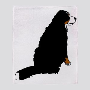 Sitting Bernese Mountain Dog Throw Blanket