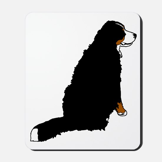 Sitting Bernese Mountain Dog Mousepad