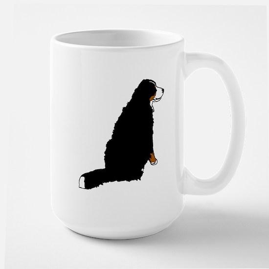 Sitting Bernese Mountain Dog Large Mug