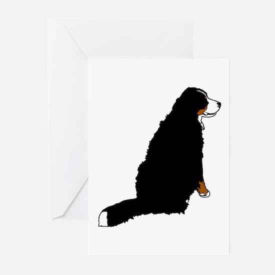 Sitting Bernese Mountain Dog Greeting Cards (Pk of