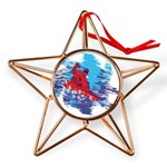 All Over Snowboard in Bright Colors Copper Star Or