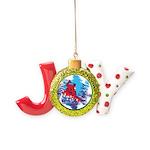 All Over Snowboard in Bright Colors Joy Ornament