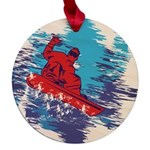 All Over Snowboard in Bright Colors Maple Round Or