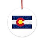 Colorado Pot Flag Round Ornament