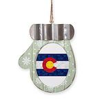 Colorado Pot Flag Mitten Ornament
