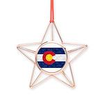 Colorado Pot Flag Copper Star Ornament