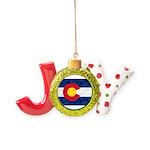 Colorado Pot Flag Joy Ornament