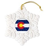Colorado Pot Flag Snowflake Ornament