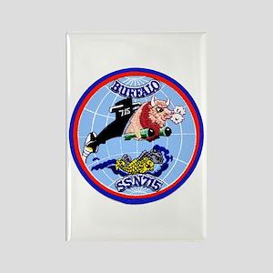 USS Buffalo SSN 715 Rectangle Magnet