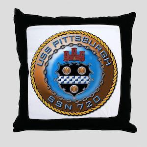USS Pittsburgh SSN 720 Throw Pillow