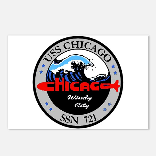 USS Chicago SSN 721 Postcards (Package of 8)