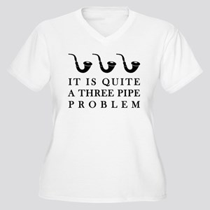 Three Pipe Problem Women's Plus Size V-Neck T-Shir