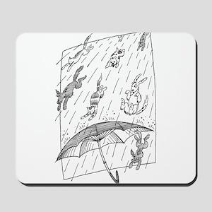 Raining cats & dogs Mousepad
