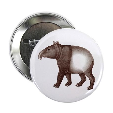 """Malayan Asian Tapir 2.25"""" Button"""