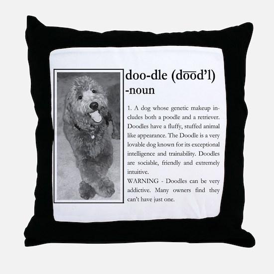 Funny Labradoodles Throw Pillow