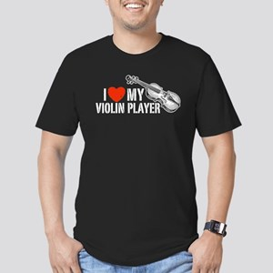 I Love My Violin Player Men's Fitted T-Shirt (dark