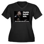 The Hunted Women's Plus Size V-Neck Dark T-Shirt