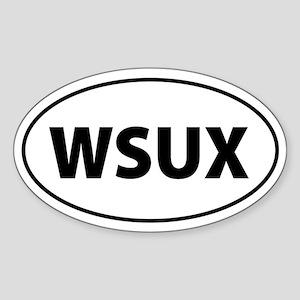 WSUX Anti-Bush Oval Sticker
