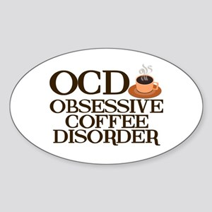 Funny Coffee Sticker (Oval)