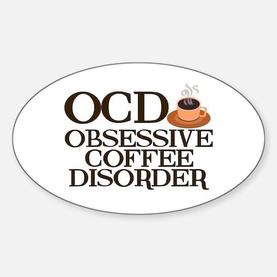 Funny Coffee Sticker (Oval)