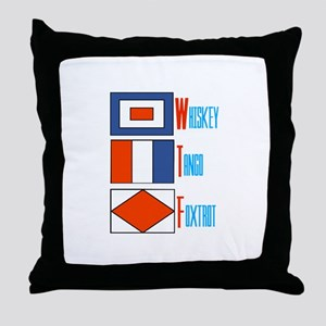 WTF Signal Flags Throw Pillow