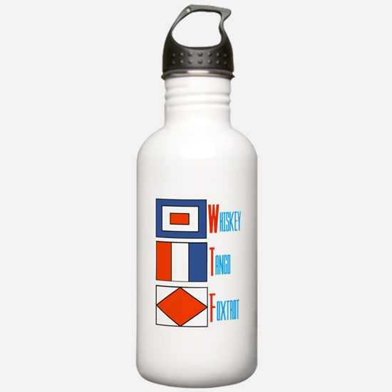 WTF Signal Flags Water Bottle